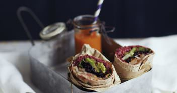 Julie Montagu's Beetroot, Black Rice And Pear Wraps