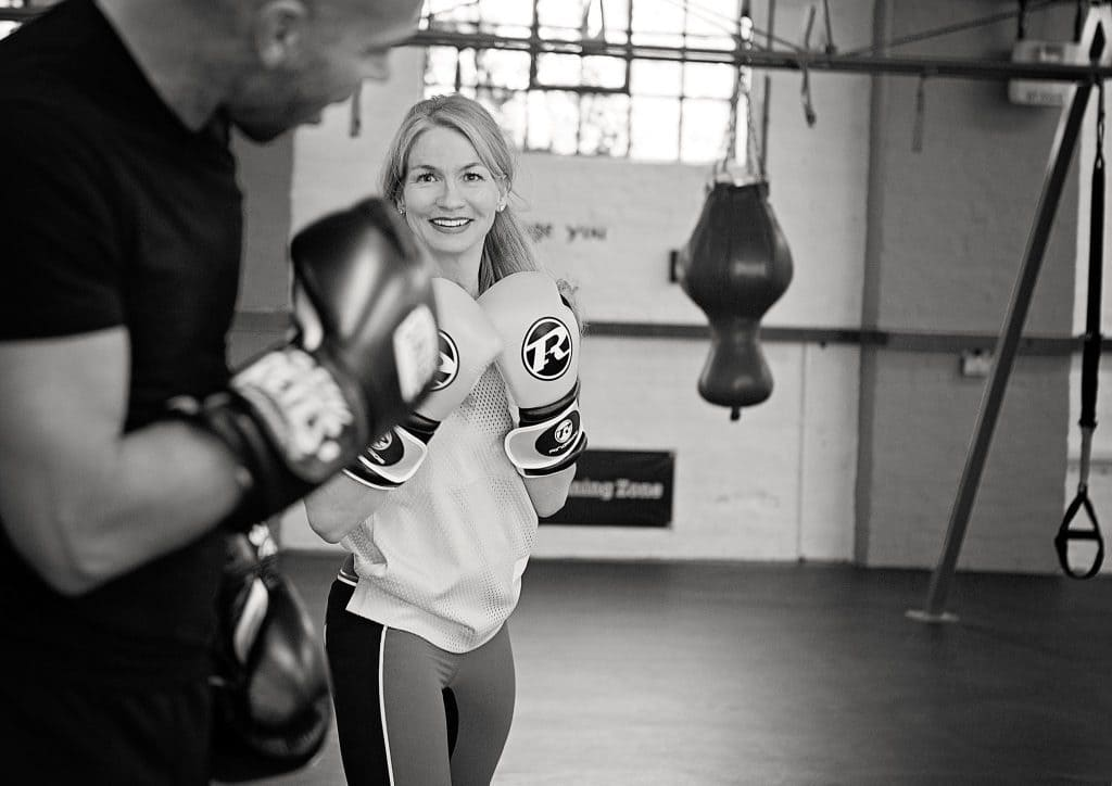 Transition Zone boxing class in Parsons Green with Claire Finlay