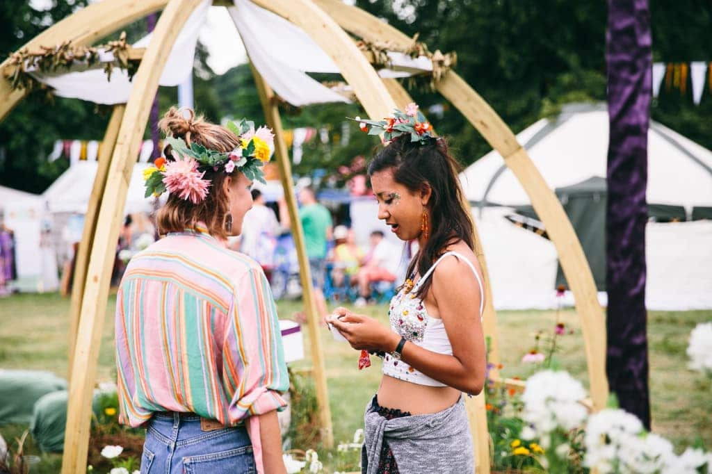 The Sanctuary crafted by Wild Wellbeing at Wilderness Festival