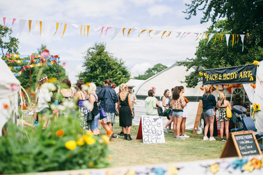 The Sanctuary at Wilderness Festival by Wild Wellbeing