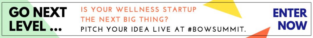 BOW Summit live pitch contest for wellness startups