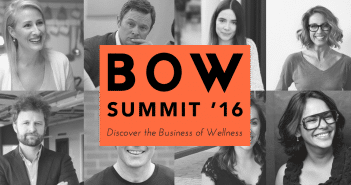 BOW Summit - Discover the Business of Wellness Summit at WeWork London on 4th June 2016