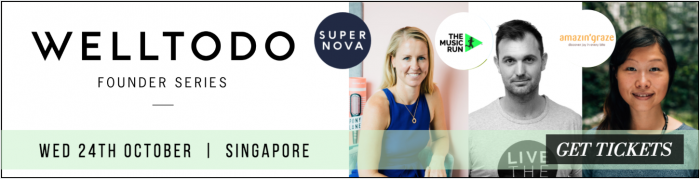 Join us for the Welltodo Founder Series in Singapore this October with Founders of Supa Nova, The Music Run and Amazin' Grace