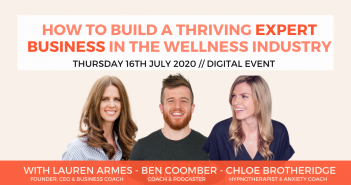 Join Welltodo, Chloe Brotheridge & Ben Coomber To Discover What It Takes To Become A Leading Wellness Expert